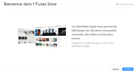 inscription itunes