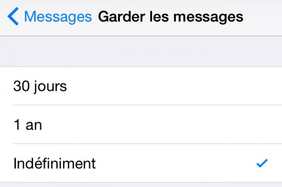 supprimer sms ios 8